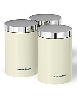 Morphy Richards Accents Canisters Cream