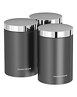 Morphy Richards Accents Canisters Grey
