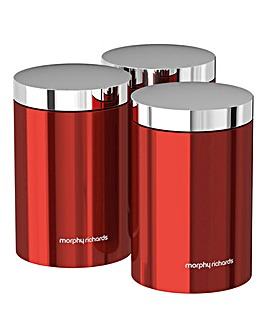 Morphy Richards Accents Canisters Red
