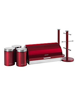 Morphy Accents 6 Piece Storage Set Red