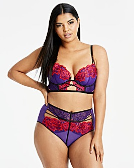 Ann Summers Azealia Purple/Red Long Bra