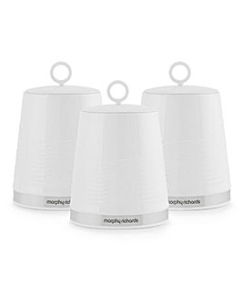 Morphy Richards Dune Set of 3 Canisters