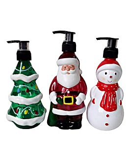 Set of Three Christmas Hand Soaps