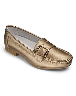 Heavenly Soles Buckle Loafers Wide E/EE Fit