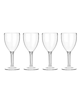 Lay-Z-Spa Set of 4 Plastic Wine Glasses