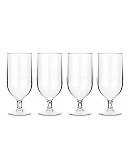 Lay-Z-Spa Set of 4 Acrylic Beer Glasses