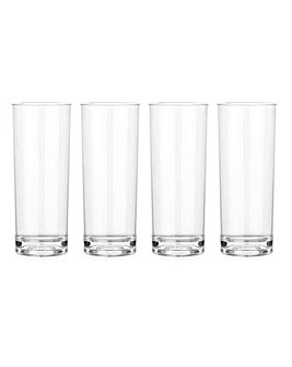 Lazy-Z-Spa Acrylic Tumblers Set of 4