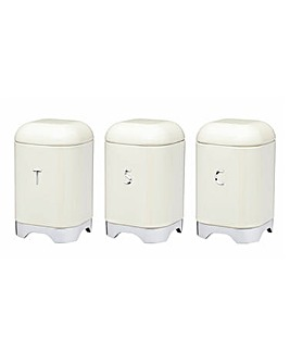 Lovello Set of 3 Canisters Cream