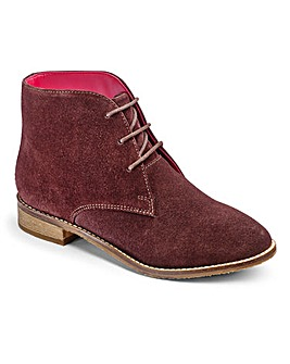 Brevitt Suede Lace Up Boots Extra Wide EEE Fit