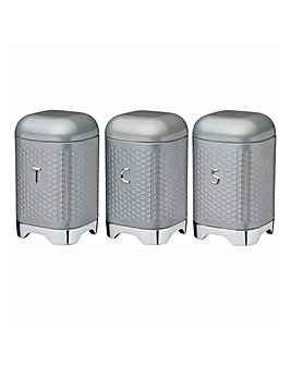 Lovello Set of 3 Canisters Grey