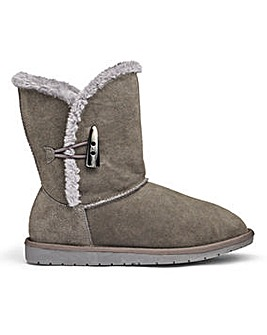 Suede Ankle Boots E Fit
