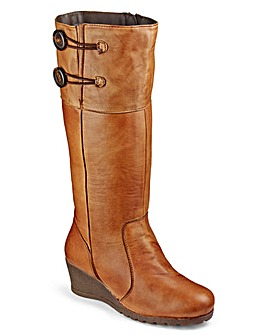 Lotus Wedge High Leg Boots Extra Wide EEE Fit Standard Calf