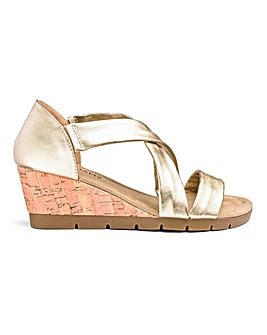 Crossover Wedge Sandals EEE Fit
