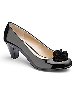 Lotus Flower Trim Court Shoes E Fit