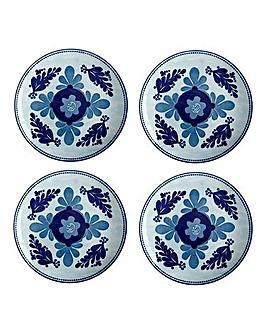 Majolica Set of 4 Side Plates Sky Blue