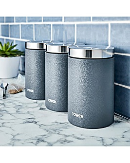 Tower Ice Diamond Set of 3 Canisters