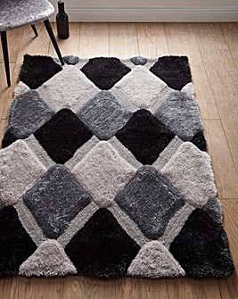 Boston Geo Sculptured Shaggy Rug