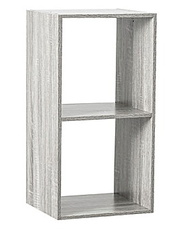 Grey Wooden 2 Cube Unit