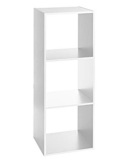 White Wooden 3 Cube Unit