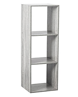 Grey Wooden 3 Cube Unit