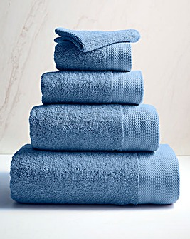 Eco Plush Recycled Cotton Towels Cornflower