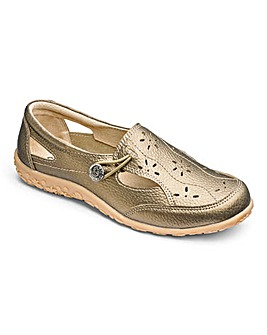 Cushion Walk Leather Shoes With Cut Out Detail Wide E Fit