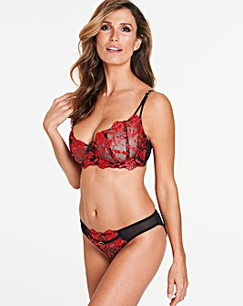 Ann Summers Cecile Red/Black Balcony Bra