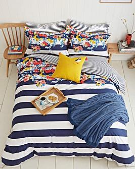 Joules St Ives Floral 180 Thread Count Cotton Duvet Cover Set