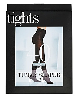 Magisculpt 40 Denier Black Tummy Shaper Tights