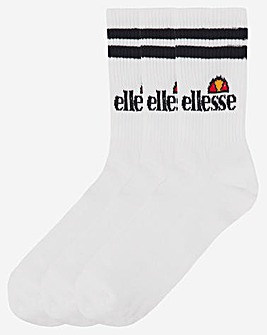 ellesse 3 Pack Pullo Crew Socks