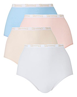 4Pack Slimma Full Fit Pastels Briefs
