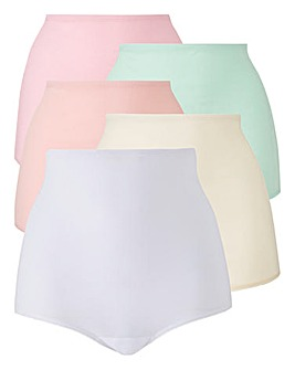 5Pack Pink/White Comfort Shorts