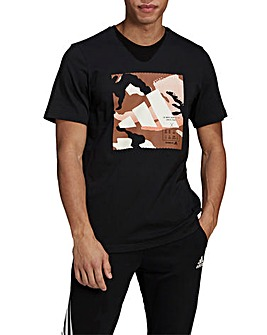 adidas Camo BOS Short Sleeve Graphic T-Shirt