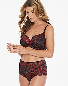 Joanna Hope Black/Red 2 Tone Lace Bra