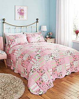 Rosy Bedspread Set