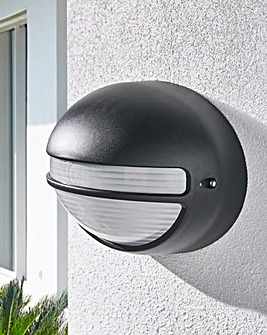 Black Oval Outdoor Hardwired Light