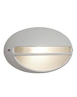White Oval Outdoor Hardwired Light