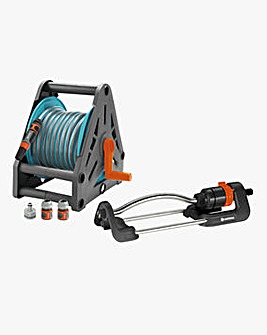 Gardena Hose Reel 15m Starter Set with Oscillating Sprinkler