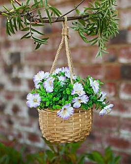 Lilac Bouquet Basket
