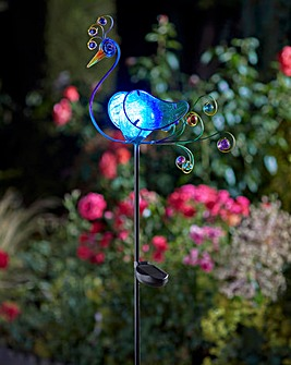 Peacock Solar Stake Lights