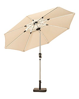 2.7m Crank & Tilt Parasol with LED Strips