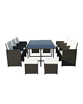 Cannes Black 10 Seater Cube set