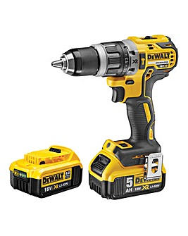 DeWALT 18V Brushless Hammer Drill With 4.0Ah & 5.0Ah Batteries & Charger:18V