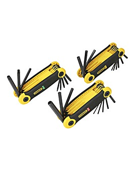 Stanley 25 Piece Metric/Imperial/Torx Folding Hex Key