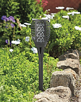 Smart Garden Set of 2 Cool Flame Grey Torches