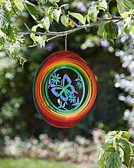 Butterfly Rainbow Spinner 30cm