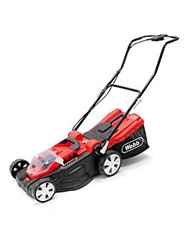 Webb Dynamic 40v Cordless 38cm Lawnmower with 2 Batteries & Charger