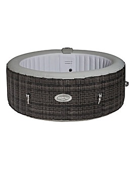CleverSpa Cadiz Rattan Effect 4 Person Hot Tub with CleverLink App