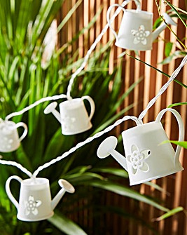 12 Watering Can Solar String Lights
