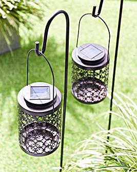 Smart Garden Set of 2 Solar Riad Lanterns